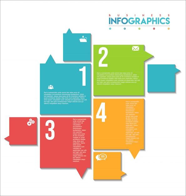 Infographie moderne coloré Vecteur Premium