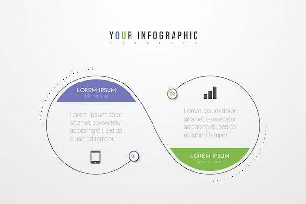 Infographie Avec Options, étapes Ou Processus. Peut être Utilisé Pour, Organigrammes, Diagramme, Présentations. Vecteur Premium