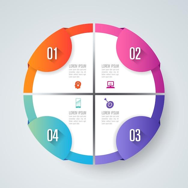 Infographie avec options Vecteur Premium