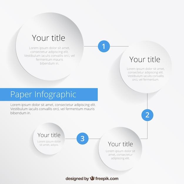 Infographie De Papier Vecteur gratuit