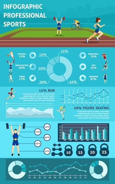 Infographie people sport Vecteur gratuit