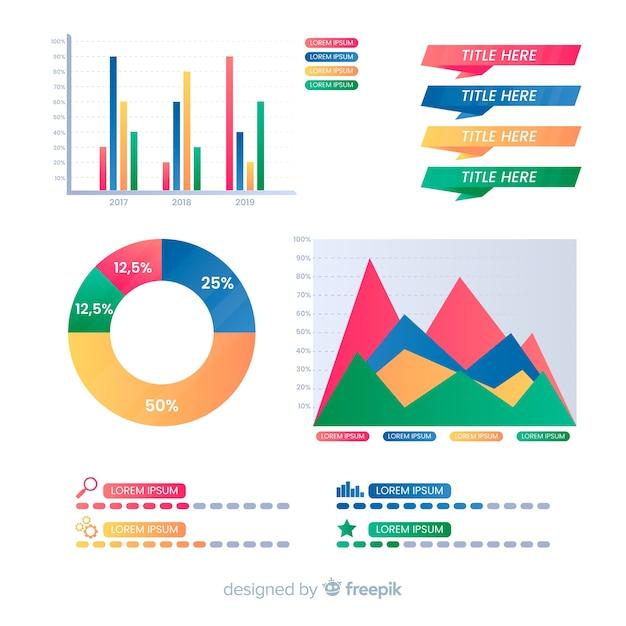 Infographie de pictogramme Vecteur gratuit
