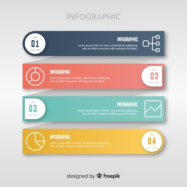 Infographie à Plat Vecteur gratuit