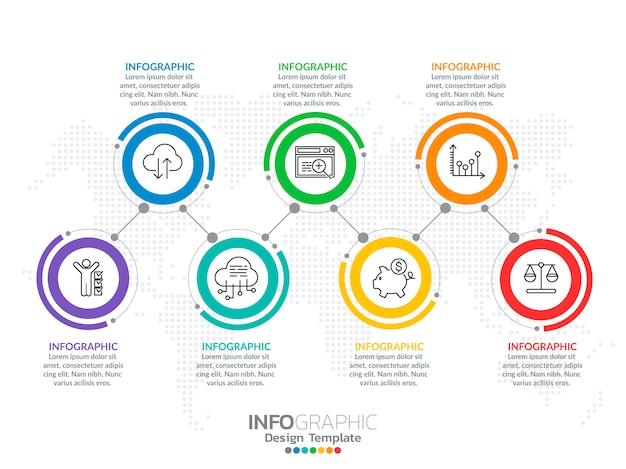 Infographie Pour Concept D'affaires Avec Des Icônes Et Des Options Vecteur Premium