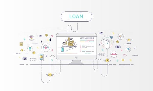 Infographie de prêt Vecteur Premium