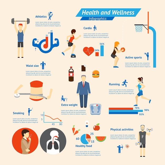 Infographie De Remise En Forme, De Nutrition Et De Santé Vecteur gratuit