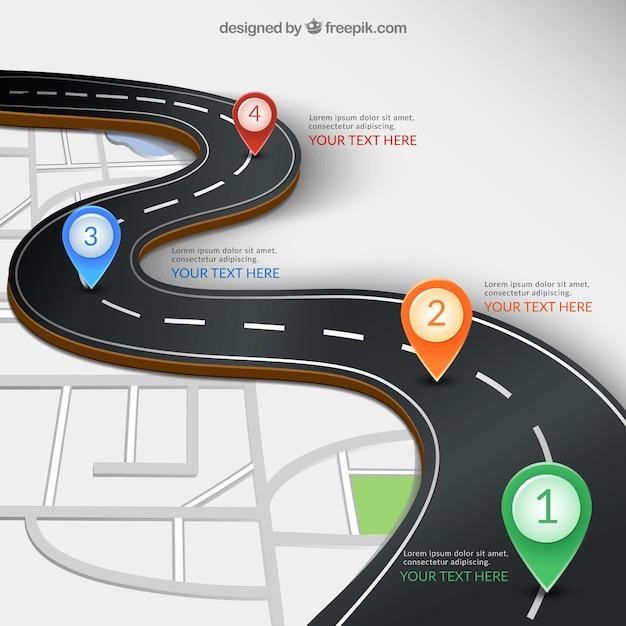 Infographie routier Vecteur gratuit