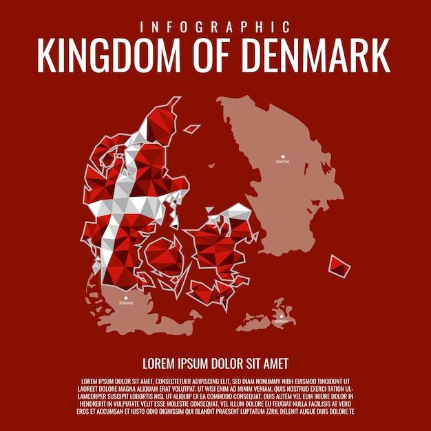 Infographie royaume du danemark Vecteur Premium