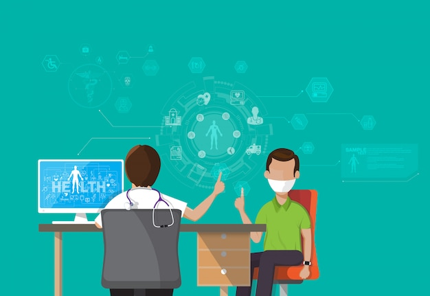 Infographie santé, Vecteur Premium