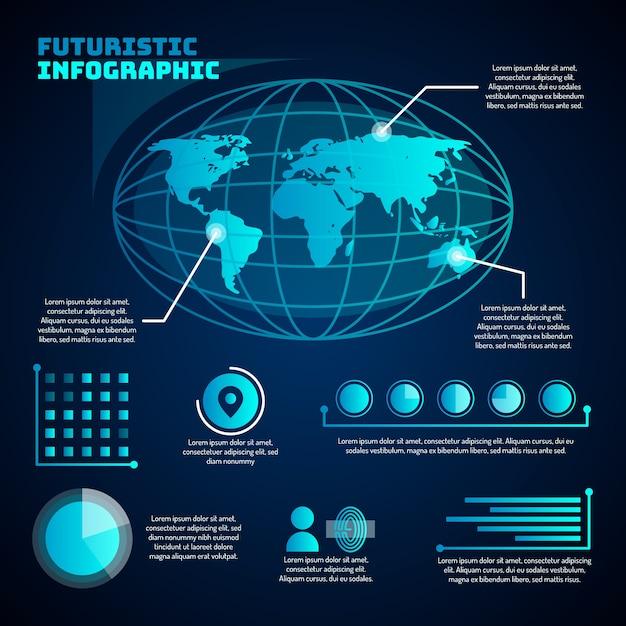 Infographie De La Technologie Futuriste Vecteur gratuit