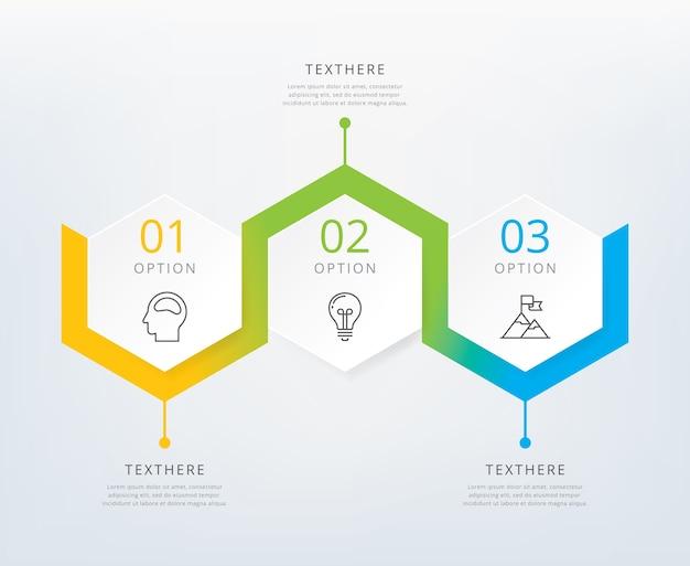 Infographie en trois étapes Vecteur Premium