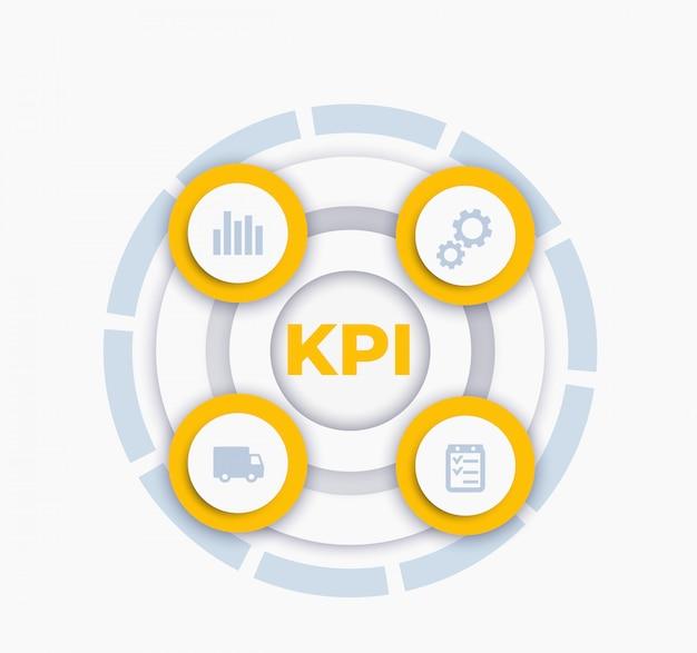 Infographie Vectorielle Kpi Vecteur Premium