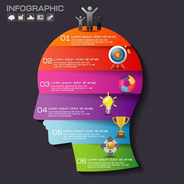 Infographie Vecteur Premium