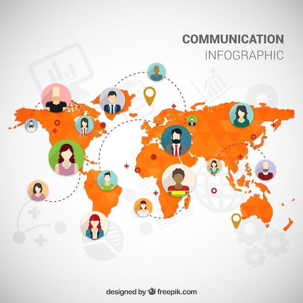infographique de communication Vecteur gratuit