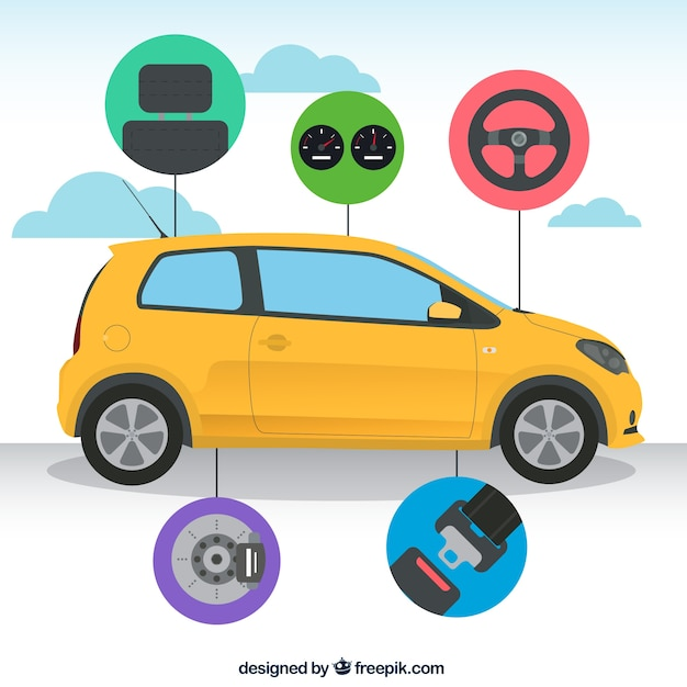 infographique de voitures Vecteur gratuit
