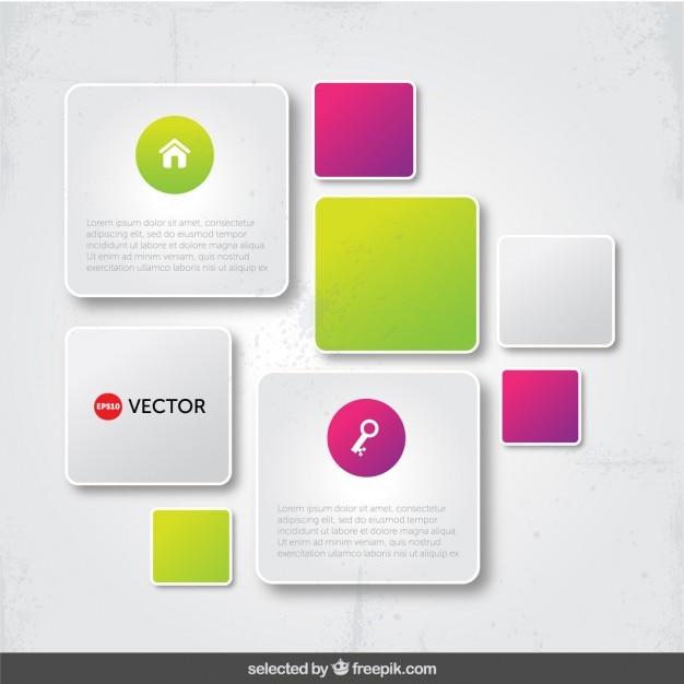 Infographiques cadres modernes Vecteur gratuit