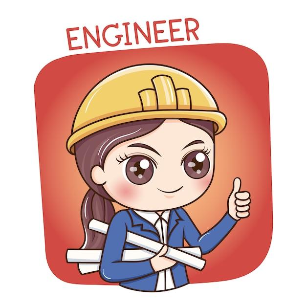 Ingénieure Vecteur Premium