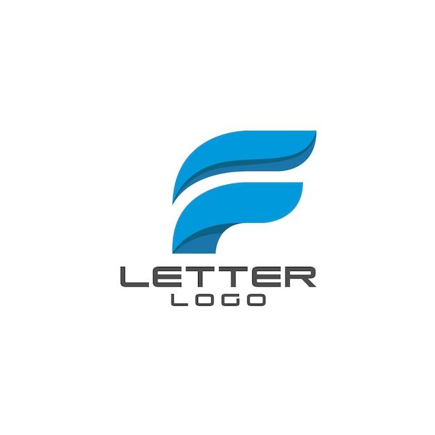 Initiale lettre f logo icône modèle éléments couleur bleu Vecteur Premium