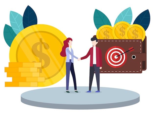 L'innovation financière conceptuelle Vecteur Premium