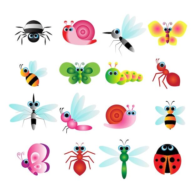 Insecte Mignon Vecteur Premium