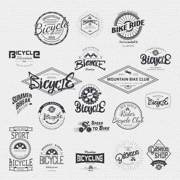 Insigne de badge de vélo Vecteur Premium