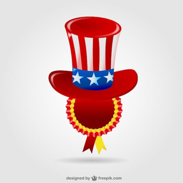 Insigne Etats Unis Chapeau Vecteur gratuit