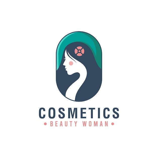 L'insigne De Logo Créatif Du Symbole De La Femme De Beauté Peut être Utilisé Pour Les Cosmétiques, Le Salon, Le Spa, Les Soins De La Peau Vecteur Premium