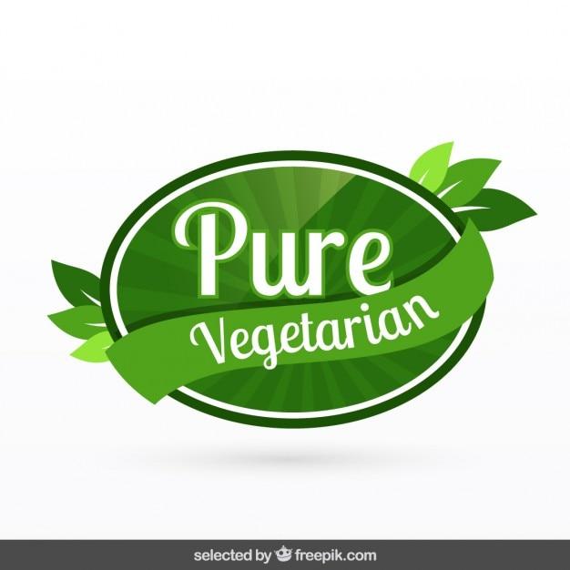 Insigne Pur Végétarien Vecteur gratuit