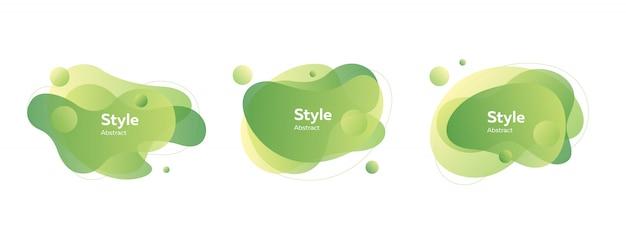 Insignes de bulles vert clair Vecteur gratuit