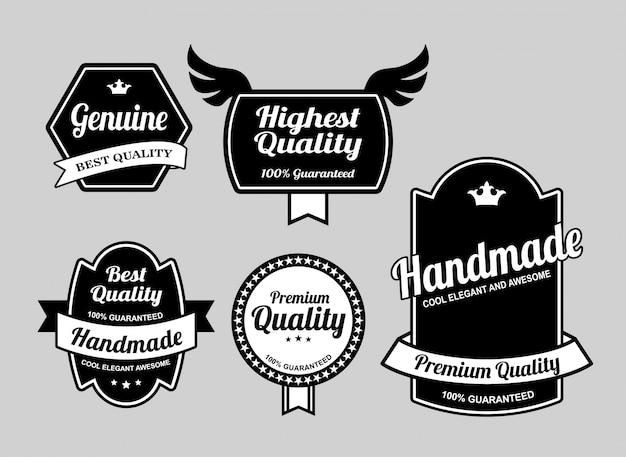 Insignes de qualité authentiques et de meilleure qualité. Vecteur Premium