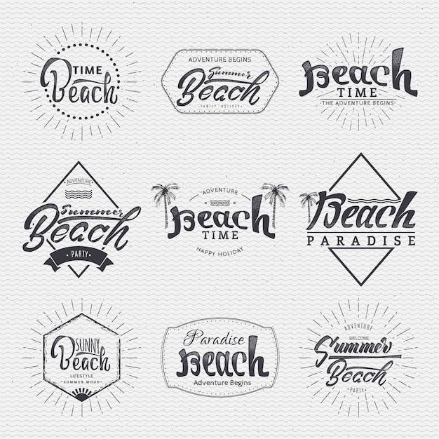 Les insignes sont fabriqués à l'aide des compétences de lettrage et de calligraphie, utilisez la bonne typographie et composition. Vecteur Premium