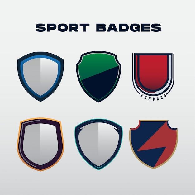 Insignes de sport Vecteur Premium