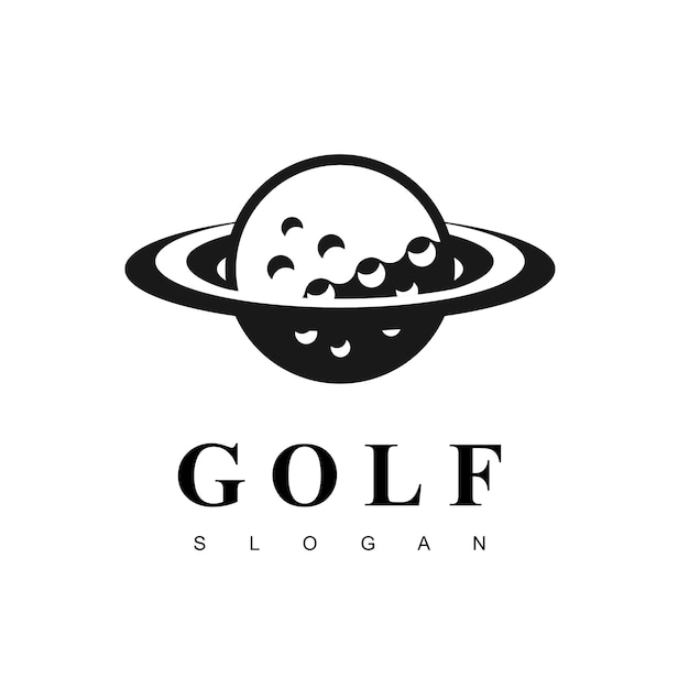 Inspiration de la conception du logo golf planet Vecteur Premium