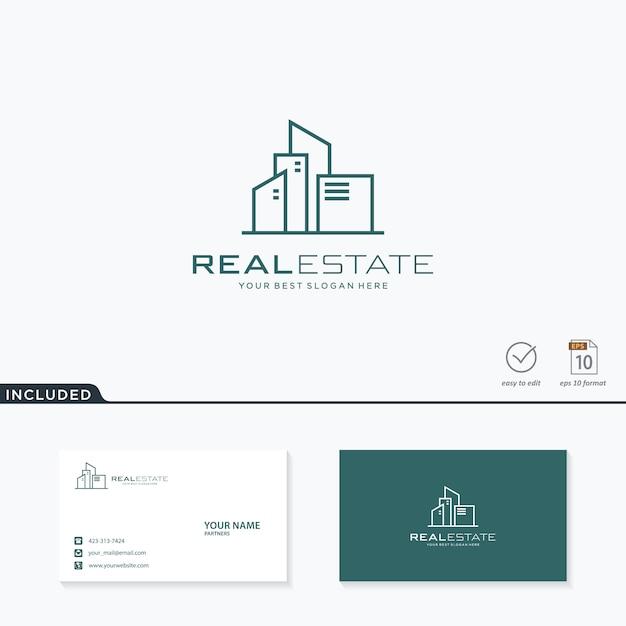 Inspiration De Conception De Logo Immobilier Vecteur Premium