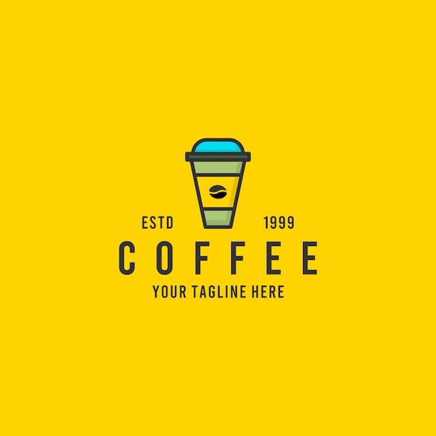 Inspiration De Conception De Logo Minimaliste Café Vecteur Premium