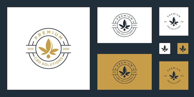 Inspiration Du Logo Cbd / Marijuana / Cannabis Premium Vecteur Premium