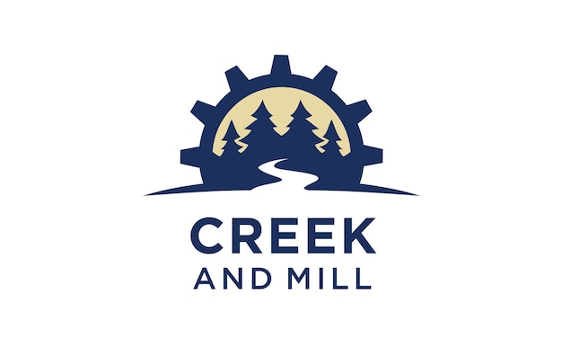 Inspiration du logo creek and mill Vecteur Premium
