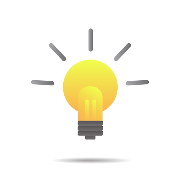 Inspiration de grandes idées, ampoule Vecteur Premium