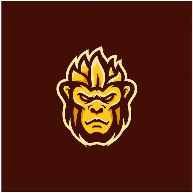 Inspiration logo singe esports Vecteur Premium