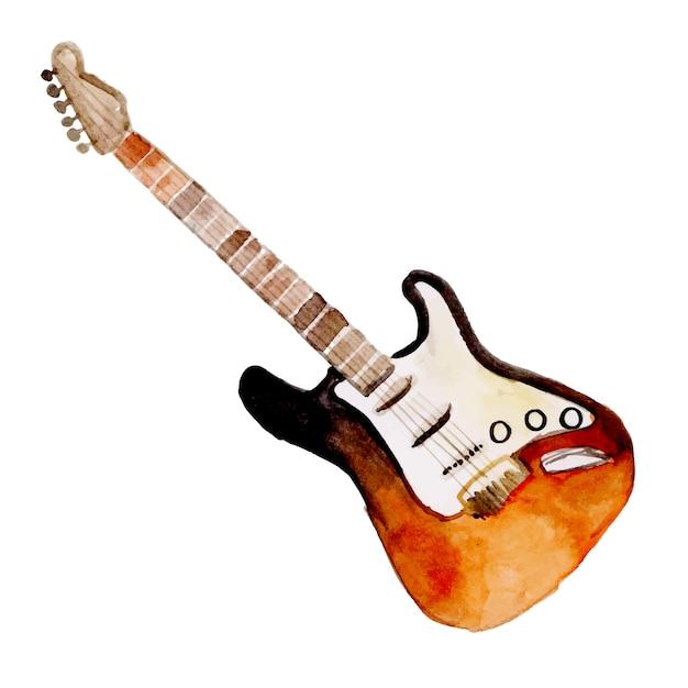 Instrument de musique aquarelle Vecteur Premium