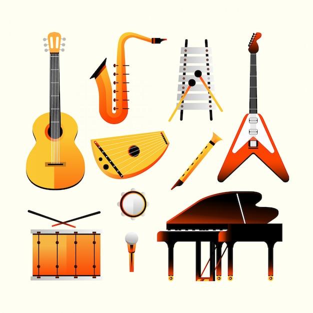 Instrument de musique Vecteur Premium