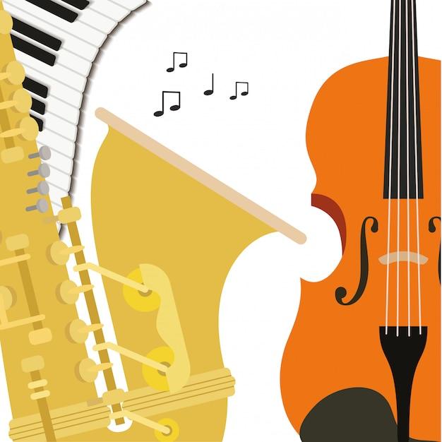 Instruments de musique Vecteur Premium
