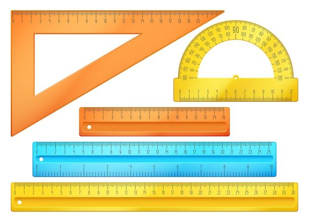 Instruments scolaires Vecteur Premium