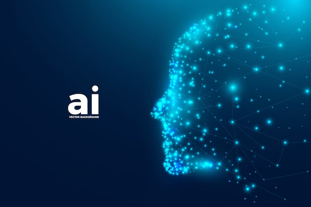 Intelligence artificielle futuriste Vecteur Premium
