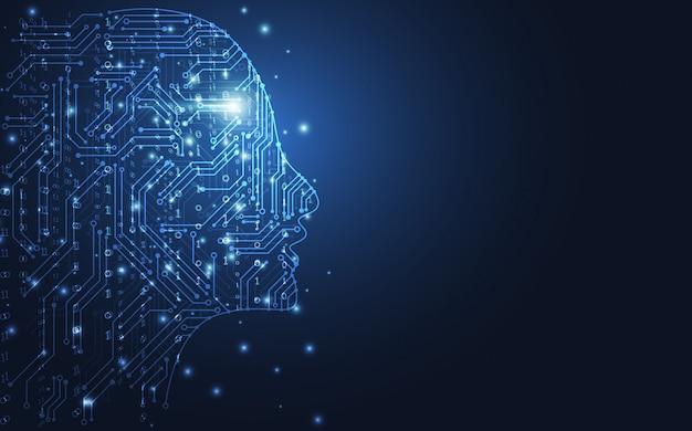 Intelligence artificielle Vecteur Premium