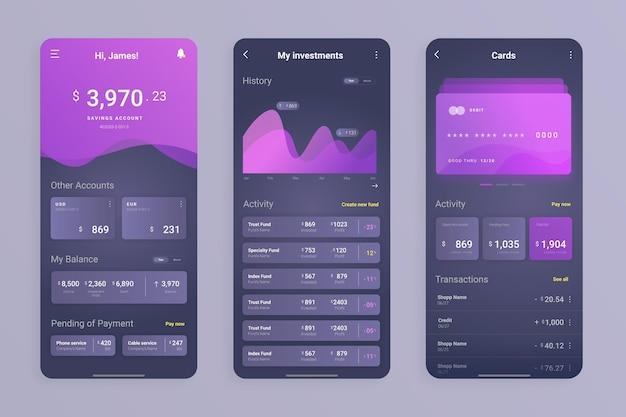 Interface D'application Bancaire Vecteur gratuit