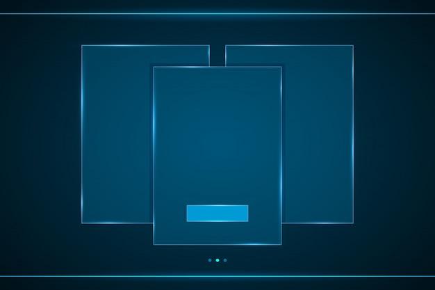 Interface carrée hud Vecteur Premium