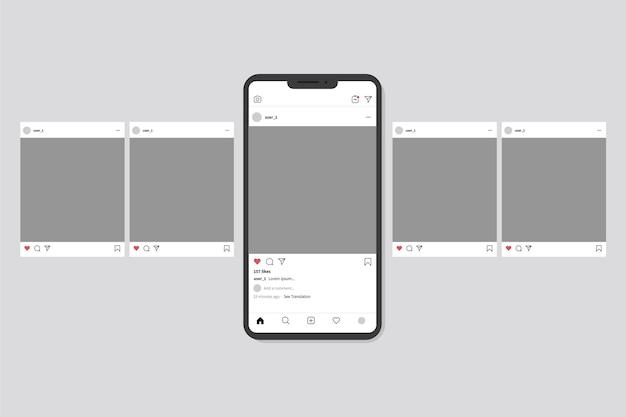 Interface Carrousel Instagram Vecteur gratuit