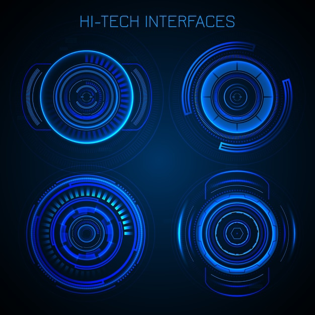Interface Hud Futuriste Vecteur gratuit