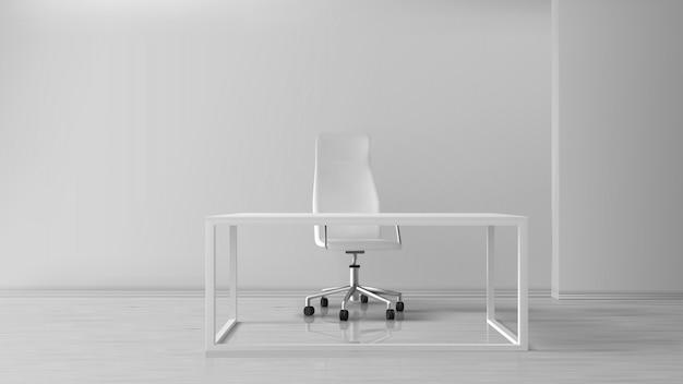 Intérieur de bureau vide, lieu de travail avec bureau Vecteur gratuit